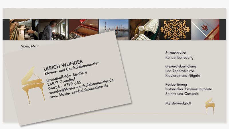 conwu grafikdesign von Wunder Cembalobau Visitenkarte