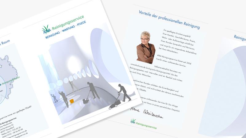 conwu grafikdesign von Ana-Reinigungsservice Flyer