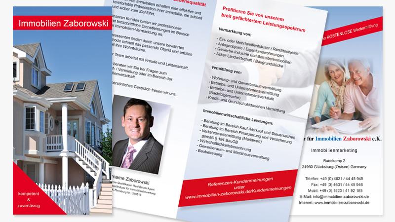 conwu grafikdesign von Immobilien Zaborowski Flyer