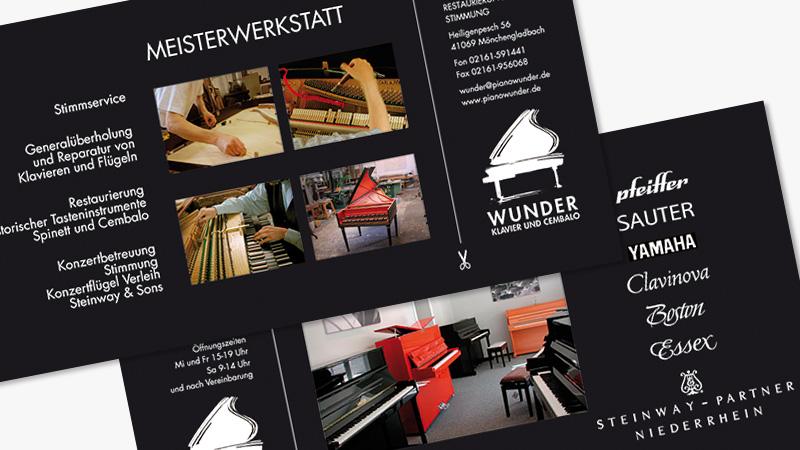 conwu grafikdesign von Wunder Klavierbau Infokarte
